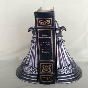 Other - Ornate Pewter Finished Bookends